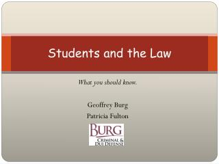 Students and the Law