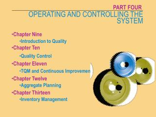 OPERATING AND CONTROLLING THE SYSTEM