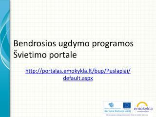 Bendrosios ugdymo  programos  Švietimo portale