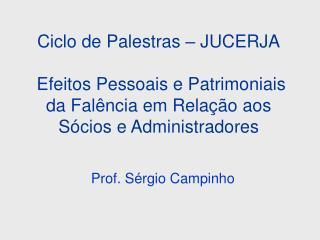 Prof. S�rgio Campinho
