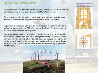HISTORIA DE LA ENERGÍA EÓLICA