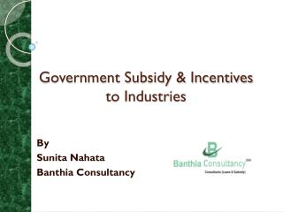 Government Subsidy & Incentives to Industries