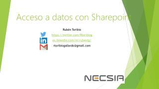 Acceso a datos con Sharepoint