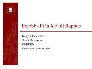 Exjobb--Fr�n Id� till Rapport