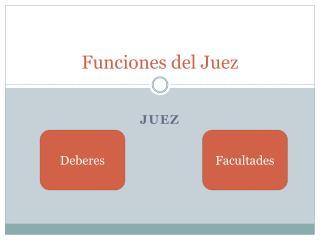 Funciones del Juez