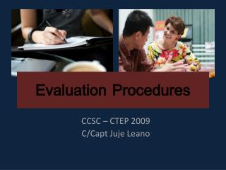 Evaluation Procedures