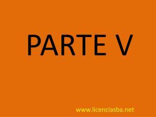 PARTE  V