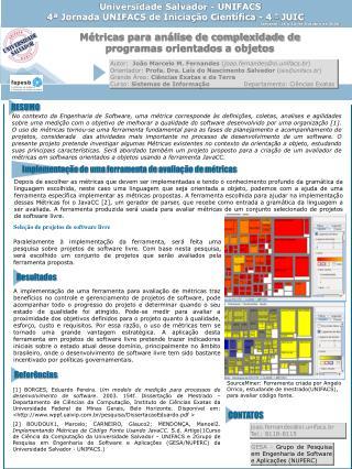 Universidade Salvador - UNIFACS 4ª Jornada UNIFACS de Iniciação Científica - 4  ª  JUIC