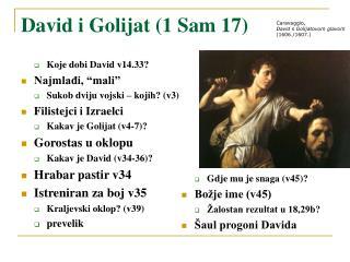 David i Golijat (1 Sam 17)