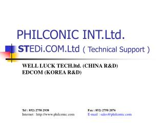 PHILCONIC INT.Ltd.