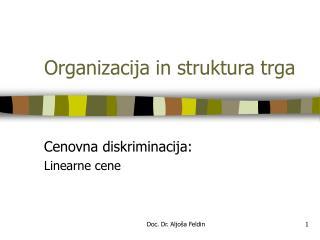 Organizacija in struktura trga