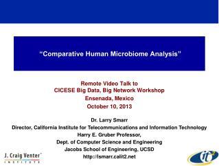 """Comparative Human Microbiome Analysis"""
