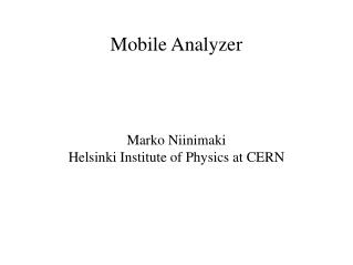 Mobile Analyzer
