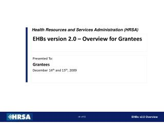 Health Resources and Services Administration HRSA