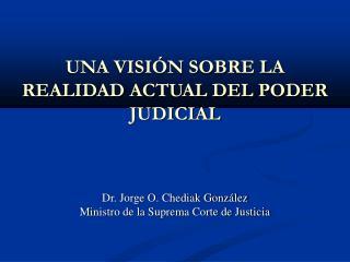 UNA VISIÓN SOBRE LA REALIDAD ACTUAL DEL PODER JUDICIAL