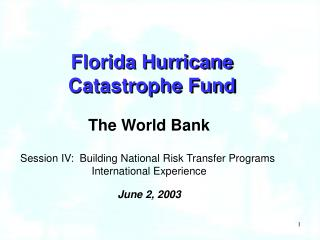 Florida Hurricane  Catastrophe Fund