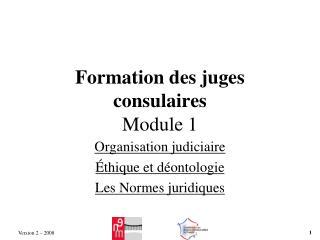 Formation des juges consulaires Module 1