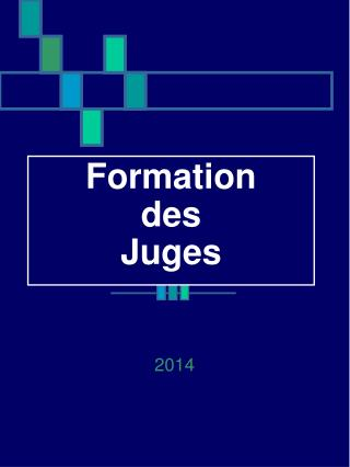 Formation  des Juges