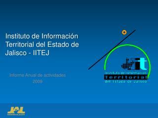 Instituto de Información Territorial del Estado de Jalisco - IITEJ