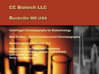 CC Biotech LLC   Rockville MD USA
