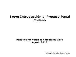 Breve Introducción al Proceso Penal Chileno