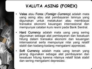 VALUTA ASING (FOREX)