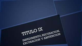 TITULO IX