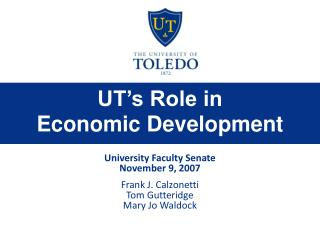UT s Role in  Economic Development