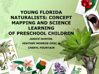 YOUNG FLORIDA NATURALISTS: CONCEPT MAPPING AND SCIENCE LEARNING  OF PRESCHOOL CHILDREN