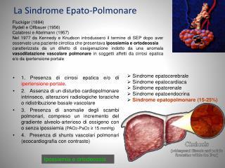 La Sindrome Epato-Polmonare