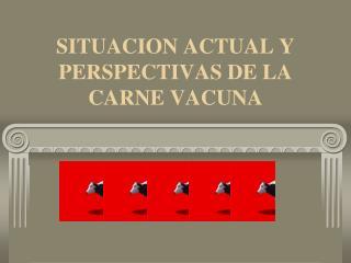SITUACION ACTUAL Y PERSPECTIVAS DE LA CARNE VACUNA