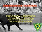 EMERGENCIAS TAURINAS