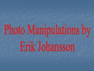 Photo Manipulations by Erik Johansson