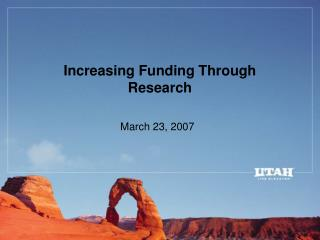 Increasing Funding Through Research