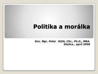 Politika amorálka