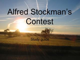 Alfred Stockman's Contest