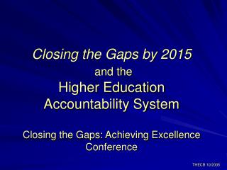 Close the Gaps in Participation