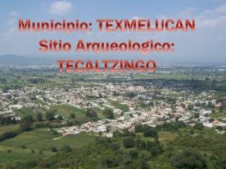 Municipio: TEXMELUCAN Sitio  Arqueologico : TECALTZINGO