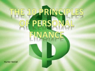 The 10 principles of Personal Finance