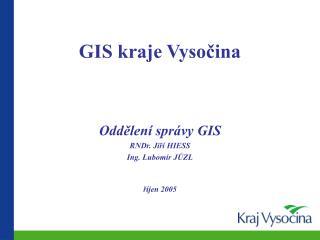 GIS kraje Vysočina