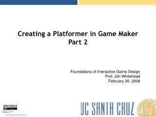 Creating a Platformer in Game Maker Part 2