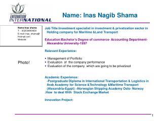 Name: Inas Nagib Shama