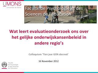 Wat leert evaluatieonderzoek ons over het gelijke onderwijskansenbeleid in andere regio ' s