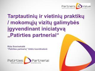 """Iniciatyva """"Patirties partneriai"""":  Kodėl naudinga įsiminti šį ženklą?"""