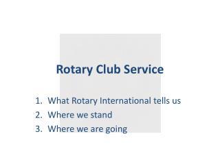 Rotary Club Service