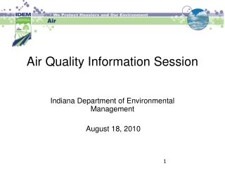 Air Quality Information Session
