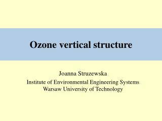 Ozone vertical structure