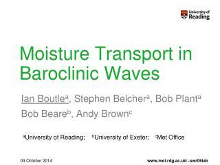 Moisture Transport in Baroclinic Waves