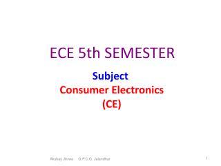 ECE 5th SEMESTER