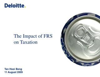 The Impact of FRS on Taxation